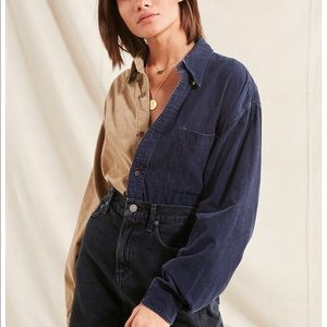 Urban outfitters Recycled Splice Button up